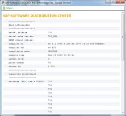 SAP720カーネルの互換性!?