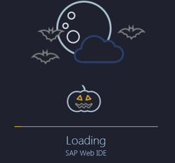SAP Web IDE のローディング画面がハロウィーン仕様に